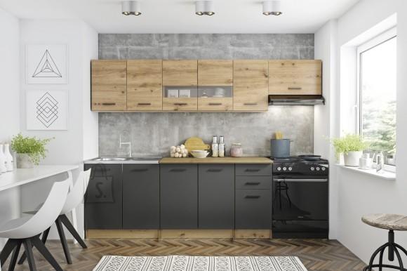Köögikomplekt Perla 260 artisan tamm/hall