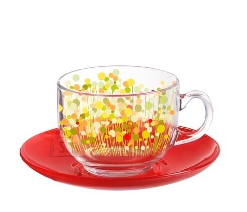 Luminarc tasside komplekt Flowerfield Red 6 tk