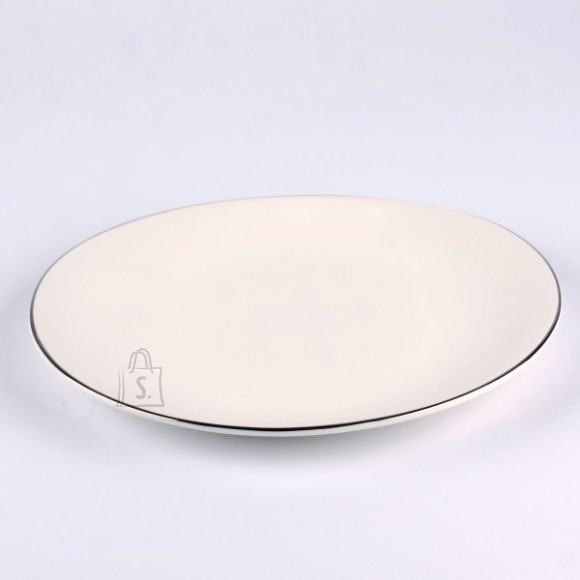 Quality Ceramic desserttaldrik Sense Platinum 21 cm