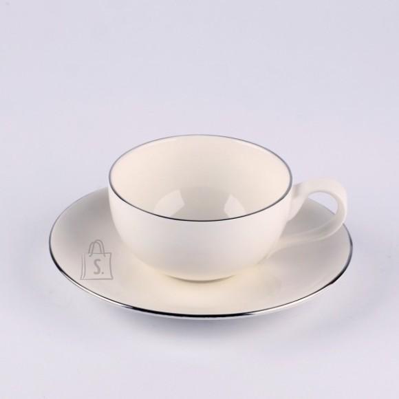 Quality Ceramic kohvitass alustaldrikuga Sense Platinum 180ml