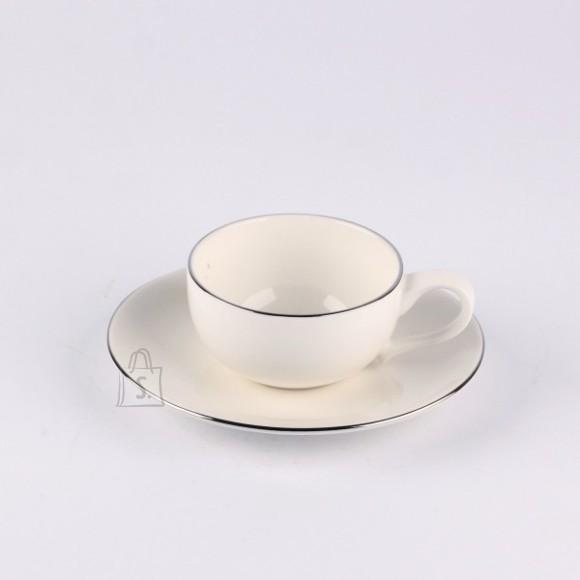 Quality Ceramic espresso tass alustaldrikuga Sense Platinum 100 ml