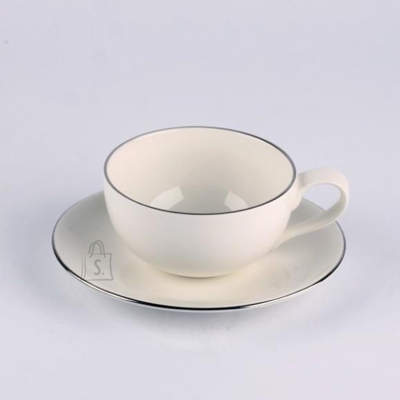 Quality Ceramic teetass alustaldrikuga Sense Platinum 230 ml