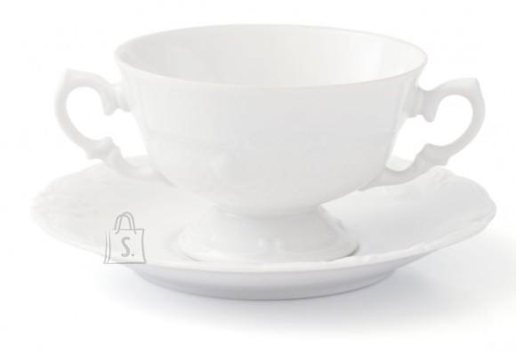 Porcelana Krzysztof puljongitass alustaldrikuga Fryderyka 250ml