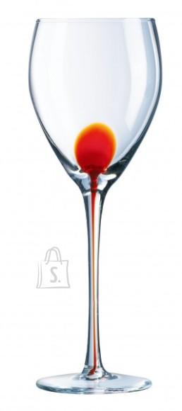 Luminarc punane veinipokaal Drip 4tk