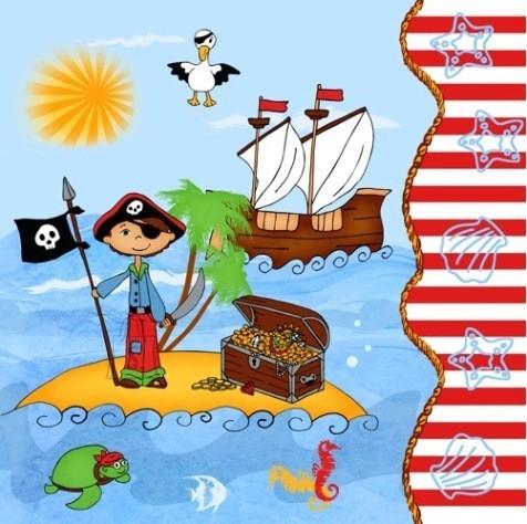 Pap Star salvrätikud Piraat 20 tk