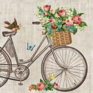 Salvrätikud lillekorv jalgrattal