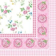 Salvrätikud roosade lilledega