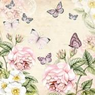 Salvrätikud liblikate ja lilledega