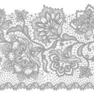 Salvrätikud hõbedase lillemustriga