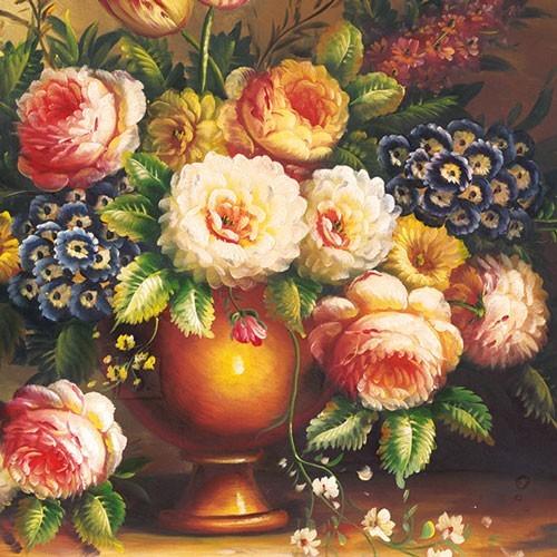 Salvrätikud lillevaasiga