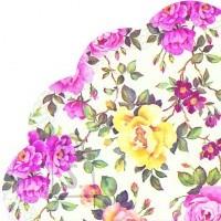 Salvrätikud kirjude lilledega