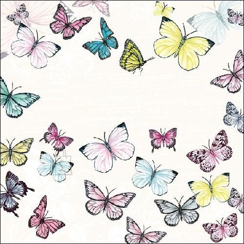 Salvrätikud liblikatega