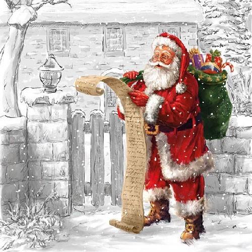 Salvrätikud jõuluvanaga