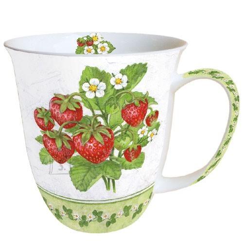 Tass maasikatega