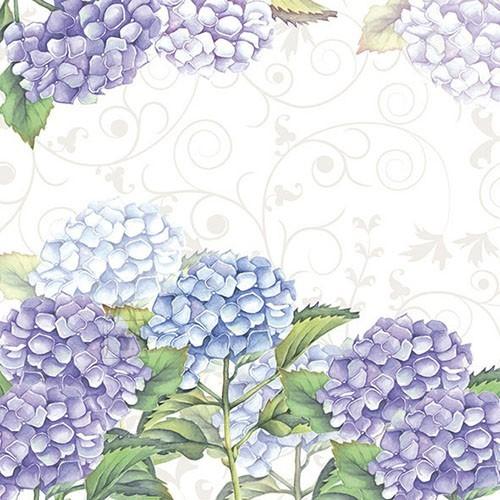 Salvrätikud hortensiaga