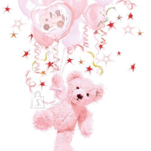 Salvrätikud roosa karuga