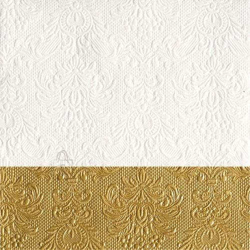 Salvrätikud Elegance valge/kuldne