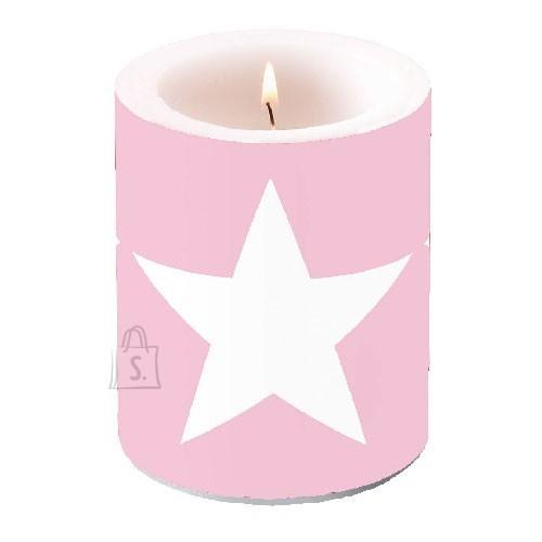 Küünal roosa tähega