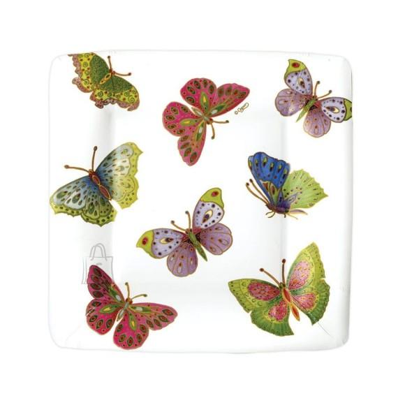 Väike papptaldrik liblikatega 8tk/pakis