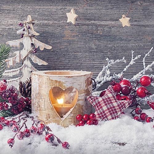 Salvrätikud jõulukaunistustega