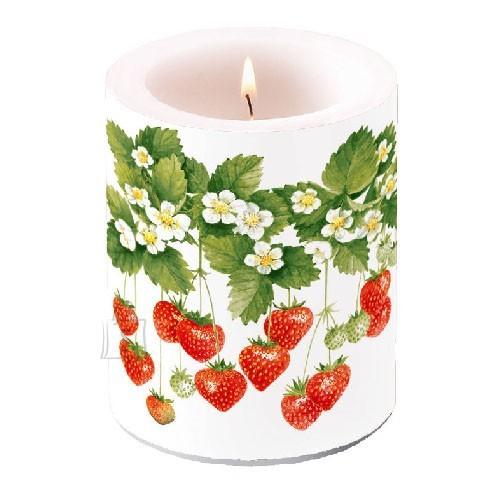Küünal maasikatega