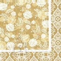 Salvrätikud kuldsete lilledega