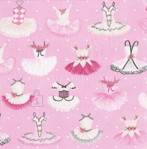 Salvrätikud roosade kleitidega