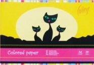 College ühepoolne värviline paber A4/20L