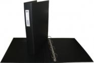 College rõngaskaust A4/3.5cm 4-rõngast must