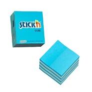 Stick'N märkmekuup 21337 51x51mm 250tk neoonsinine