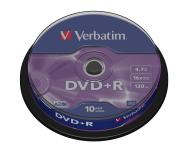 Verbatim DVD+R toorik AZO 4.7Gb 16X 10tk tornis