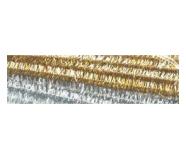 Folia käsitöötraat karvane 10tk 50cm kuld hõbe