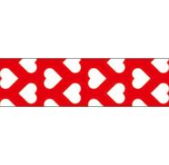 Folia Washi-Tape 26047 15mmx10m valged südamed punasel