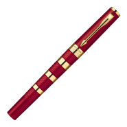 Parker pastapliiats Ingenuity Large Red Rubber & Metal GT Fine must