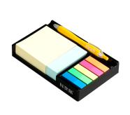 Stick'N märkmekuup 76x76 mm pastell 400L + 76x25mm 200L + 5 indeksit + hoidja