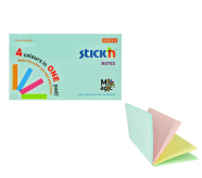 Stick'N märkmepaber Magic pads 76x127 mm 4x25 lehte pastell assortii