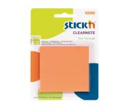 Stick'N märkmepaber 76x76 mm 50 lehte läbipaistev oranž