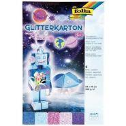 Folia käsitööpaber glitterkartong ICE 300g 24x34 cm 5 lehte