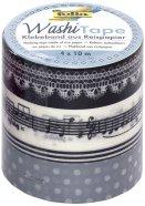 Folia Washi-Tape Meloodia 4rulli 15mm x 10m komplektis