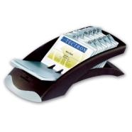 Durable visiitkaardikartoteek Visifix 200-le kaardile, must/hõbe