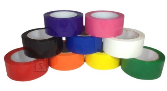 Pakketeip 9mmX66m PVC värviline