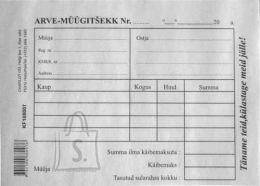 College Blankett Arve-müügitšekk A6/100L KPF