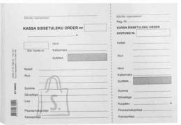 College Blankett Kassa sissetuleku order A5/100L KPF