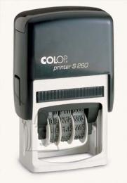 Colop tempel Printer S260 kuupäev+tekst (24x45mm)