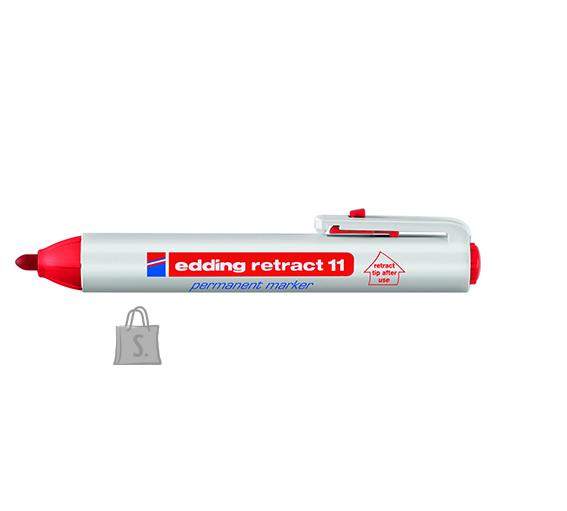 edding permanentne marker klõpsuga punane