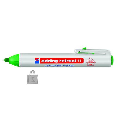 edding permanentne marker klõpsuga roheline