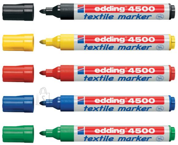 edding 5 värviga tekstiilimarkerite komplekt