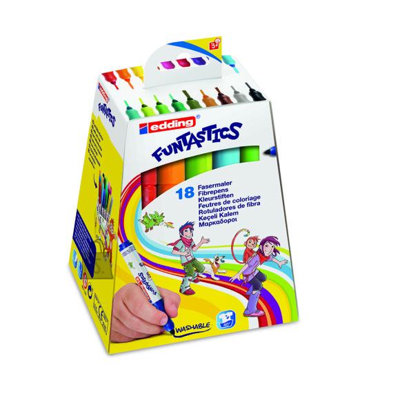 edding viltpliiats 14/18 funtastics 18 värvi