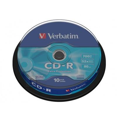 Verbatim CD-R toorik 700Mb 52X 10tk tornis
