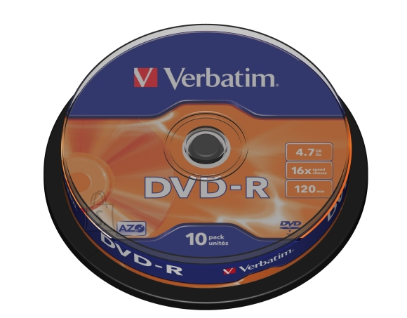 Verbatim DVD-R AZO 4.7Gb 16X 10tk tornis